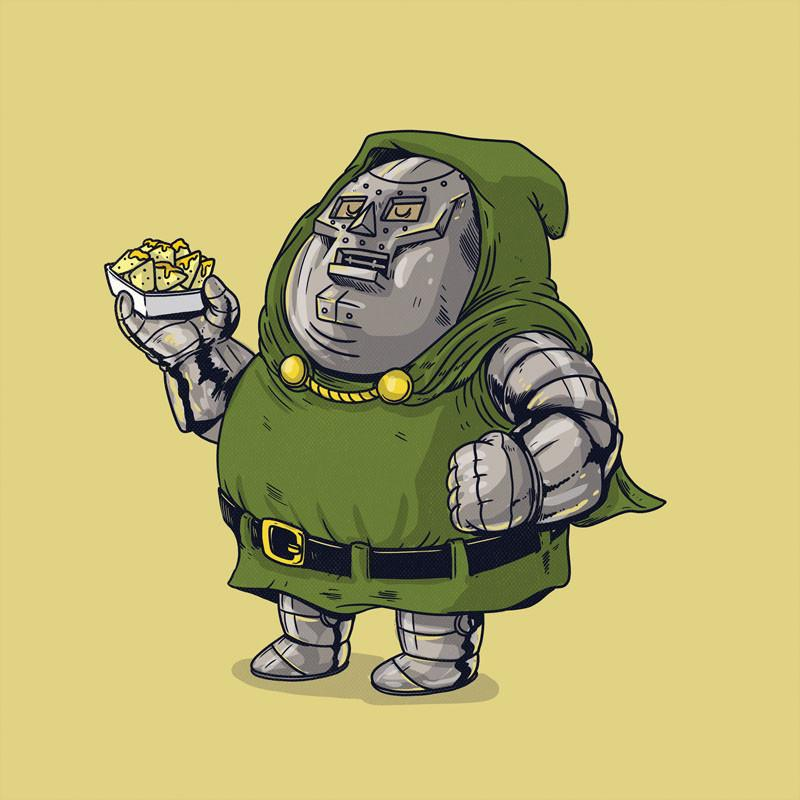 The Famous Chunkies:  Dr. Doom by Alex Solis