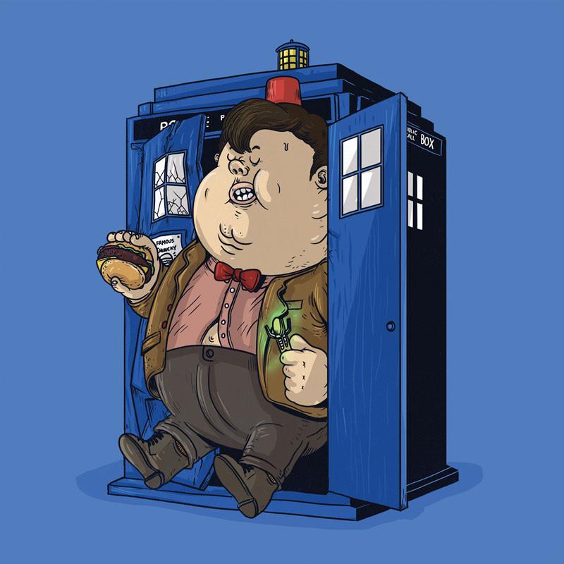 The Famous Chunkies: Dr Who by Alex Solis