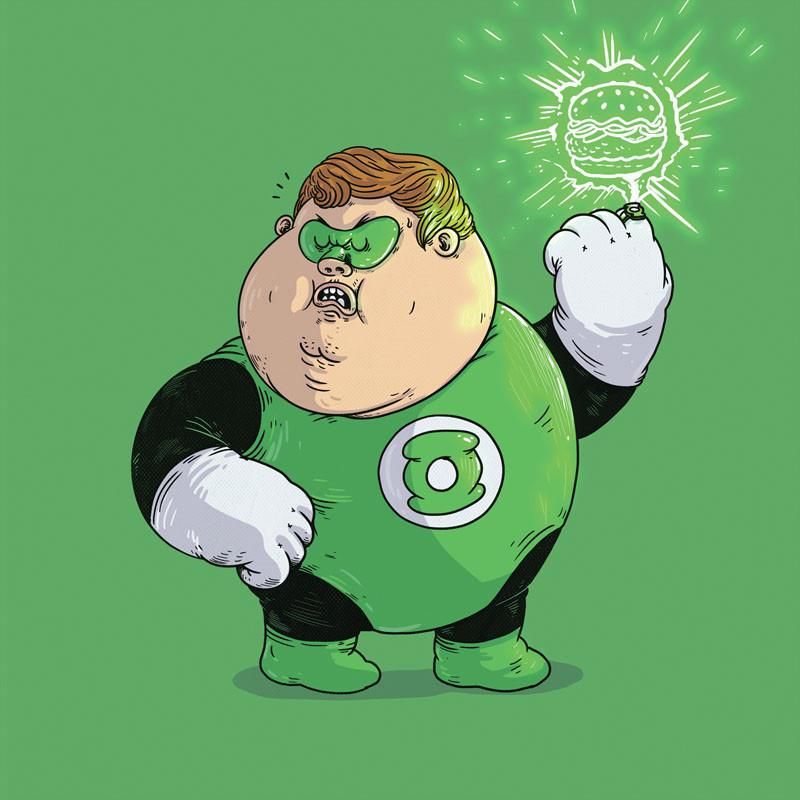The Famous Chunkies: Green Lantern by Alex Solis