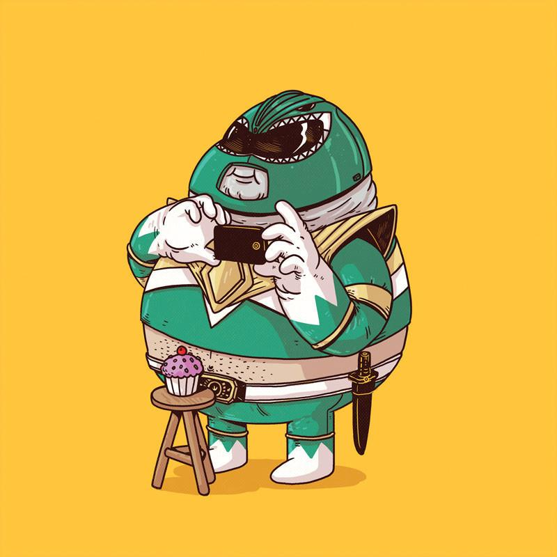 The Famous Chunkies:  Green Power Ranger by Alex Solis