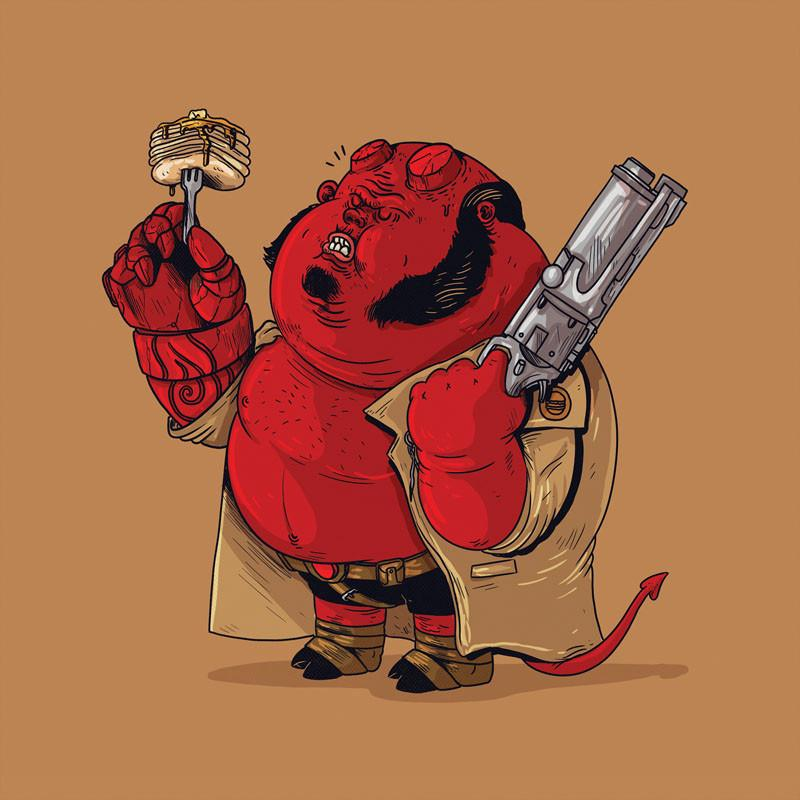 The Famous Chunkies: Hellboy by Alex Solis
