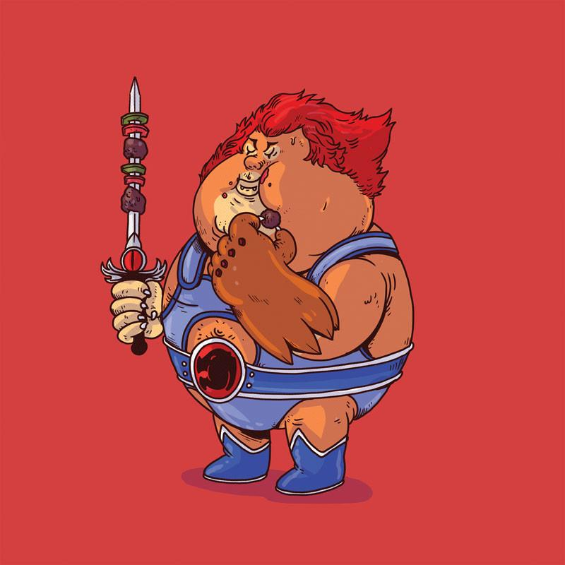 The Famous Chunkies:  Lion O by Alex Solis