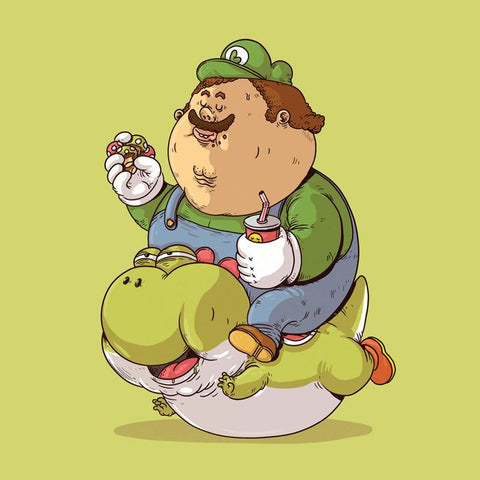 The Famous Chunkies: Luigi and Yoshi by Alex Solis