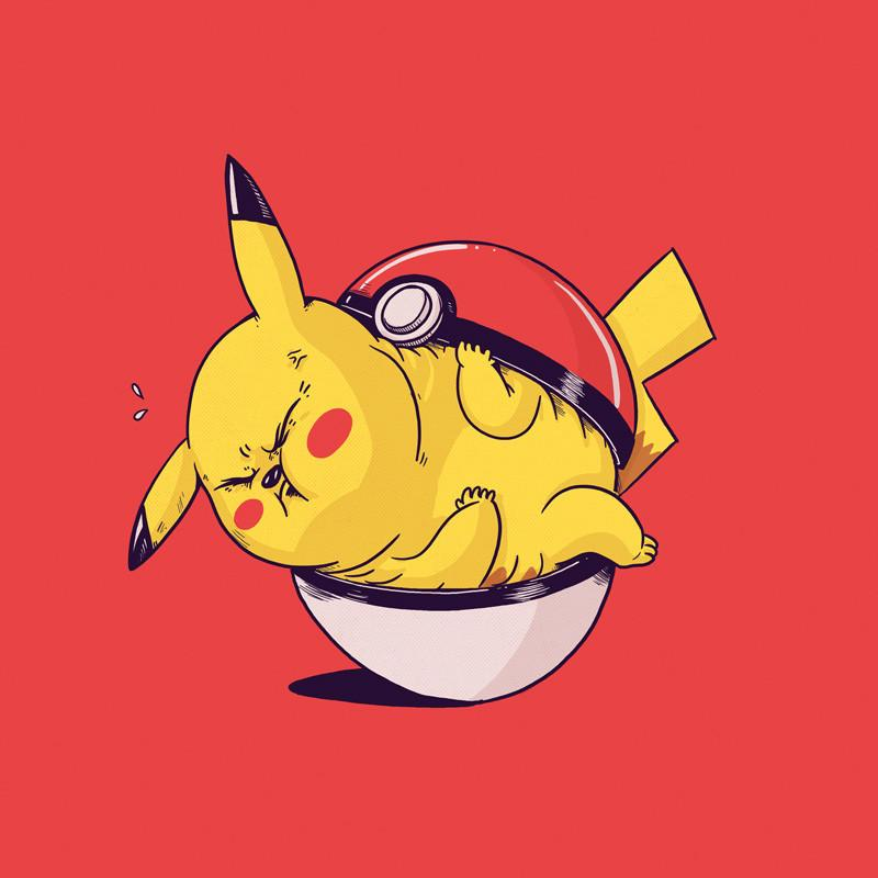 The Famous Chunkies: Pikachu by Alex Solis