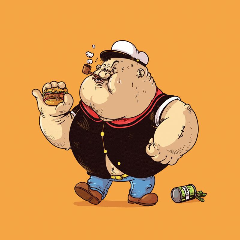 The Famous Chunkies: Popeye by Alex Solis