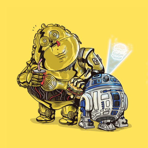 The Famous Chunkies: C-3PO & R2-D2 by Alex Solis