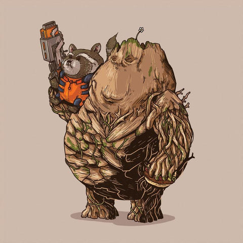 The Famous Chunkies: Rocket and Groot by Alex Solis