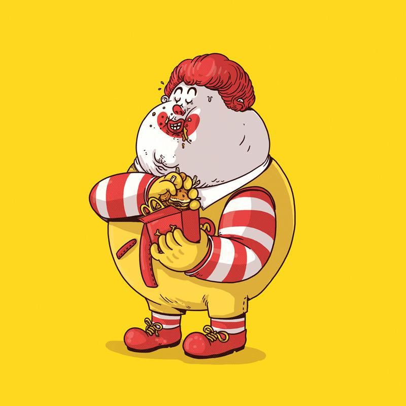 The Famous Chunkies: Ronald McDonald by Alex Solis