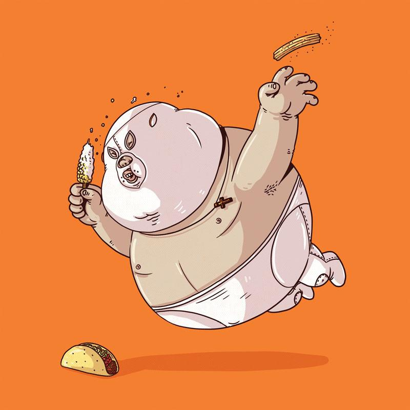 The Famous Chunkies:  El Santo by Alex Solis