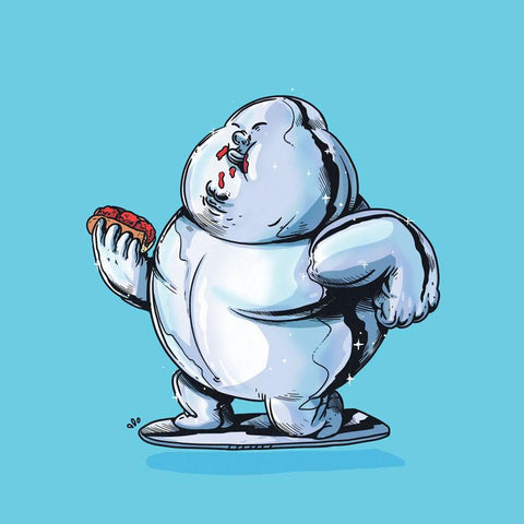 The Famous Chunkies:  Silver Surfer by Alex Solis