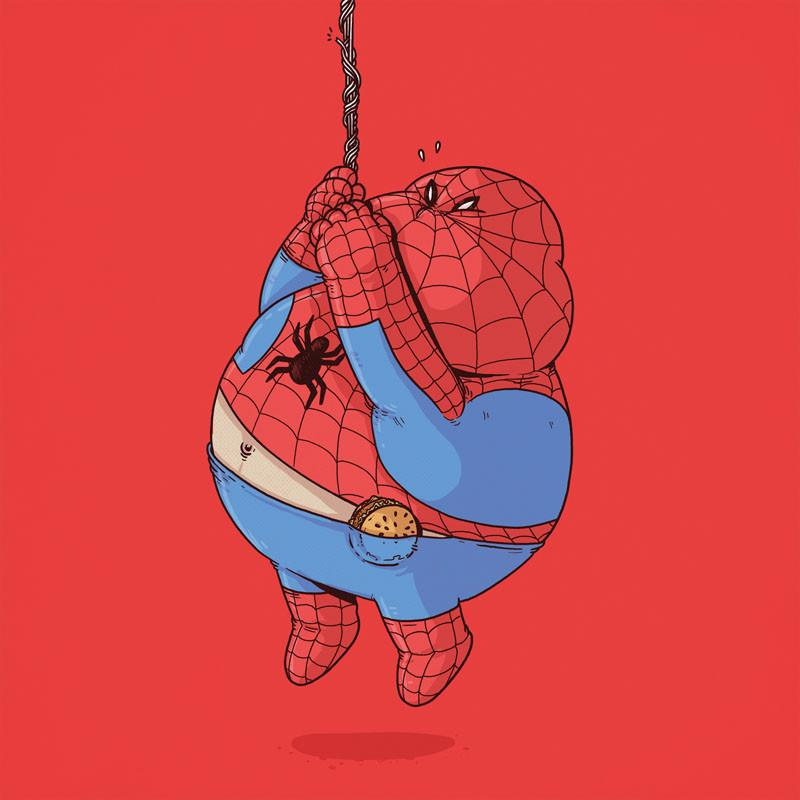 The Famous Chunkies:  Spiderman by Alex Solis