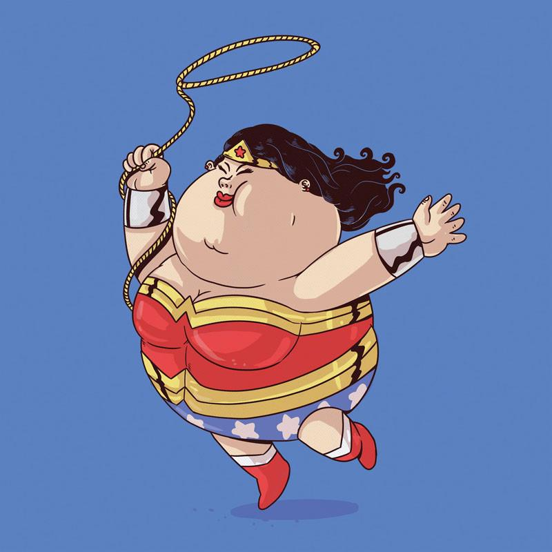 The Famous Chunkies:  Wonder Woman by Alex Solis