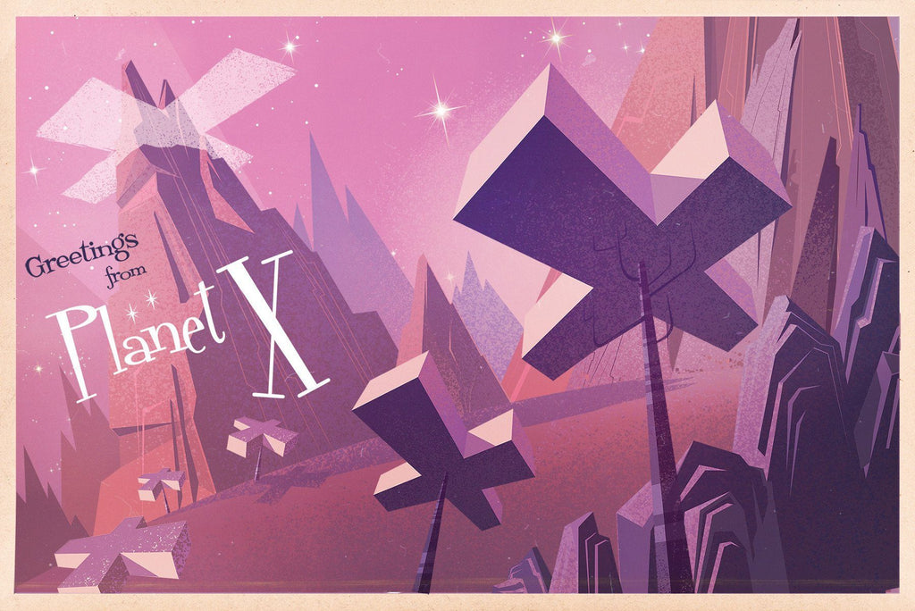 Planet X by James Gilleard (postcard)