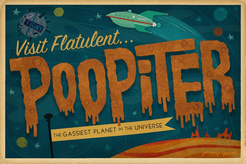 Poopiter by Johnny Yanok (postcard)