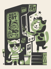 Arcade Cat by Little Friends of Printmaking