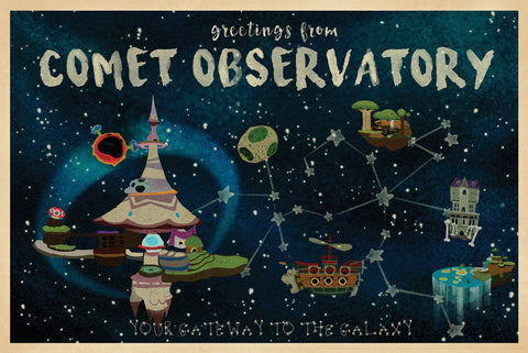 Comet Observatory by Seung Hyun (postcard)