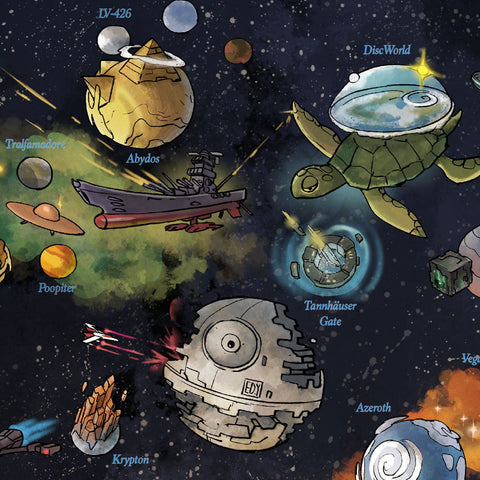 Space Worlds Map by Edison Yan