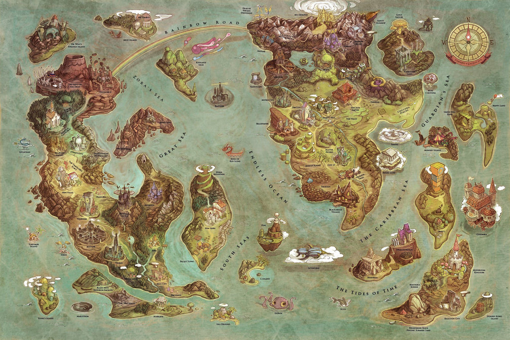 Videogames World Map by Edison Yan