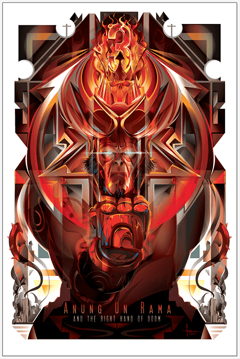 Hellboy 3: Anung Un Rama & the Right Hand of Doom by Orlando Arocena