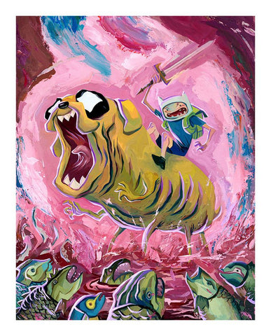 Finn & Jake Find the Light (print) by Rich Pellegrino