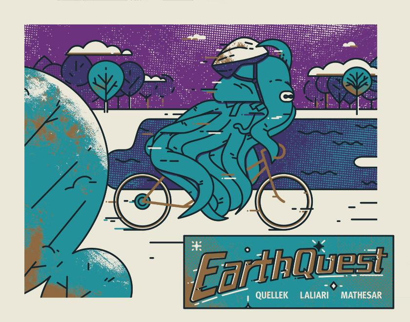 Earth Quest: The Biking Scene (Lobby Card) by Emory Allen