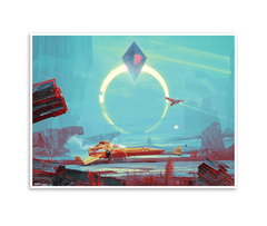 Eclipse Gicl̩e Print (No Man's Sky)