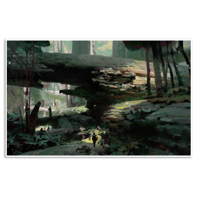 Heart of Maguuma: Logs Giclée Print (Guild Wars 2)
