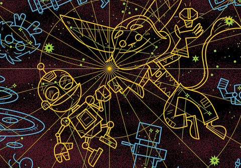 Constellations of the Solana Galaxy Limited Edition Screenprint (Ratchet & Clank)