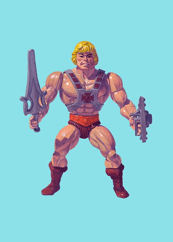He-Man Print by Jason Brockert