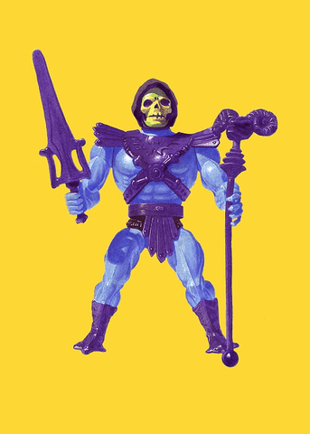 Skeletor Print by Jason Brockert