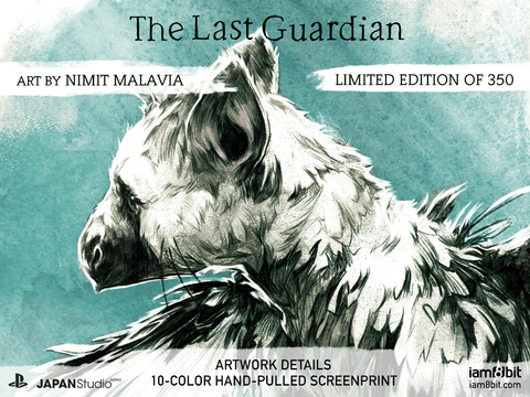 The Last Guardian Limited Edition Screenprint