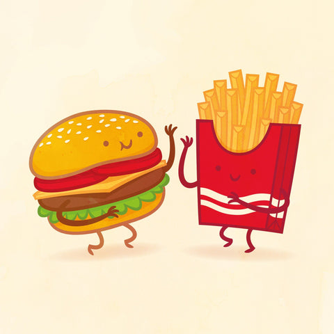Burger and Fries by Philip Tseng