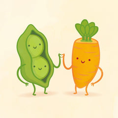 Peas and Carrot by Philip Tseng