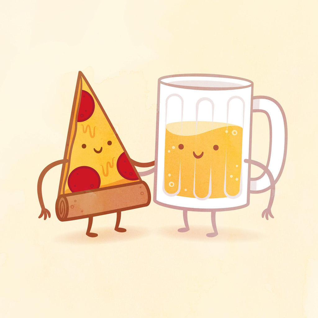 Pizza and Beer by Philip Tseng