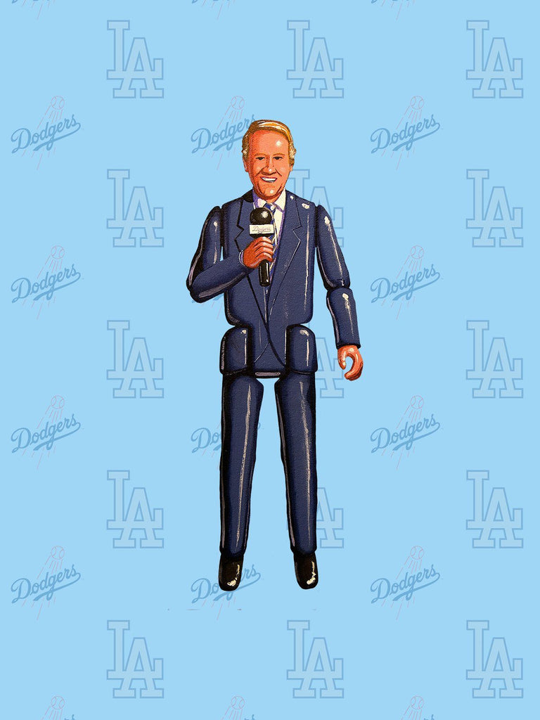 Vin Scully Print by Jason Brockert
