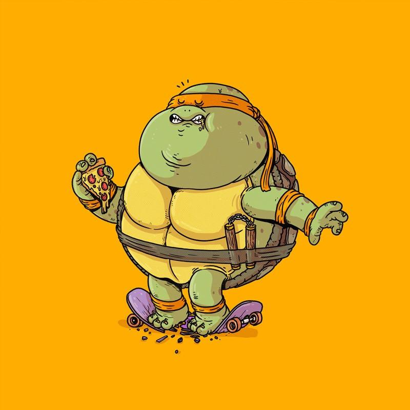 The Famous Chunkies: Michaelangelo by Alex Solis