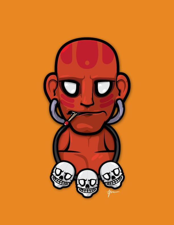 Dhalsim in Three by JThree Concepts