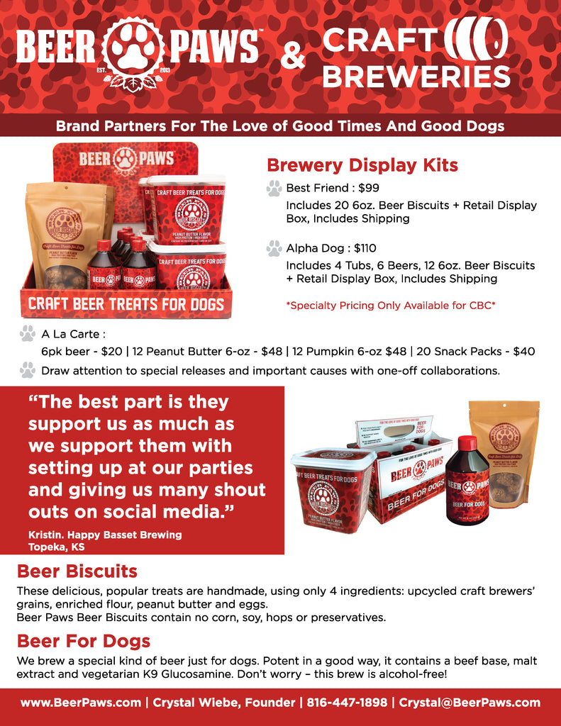 Beer Paws CBC Specials Brochure Information Wholesale Packages
