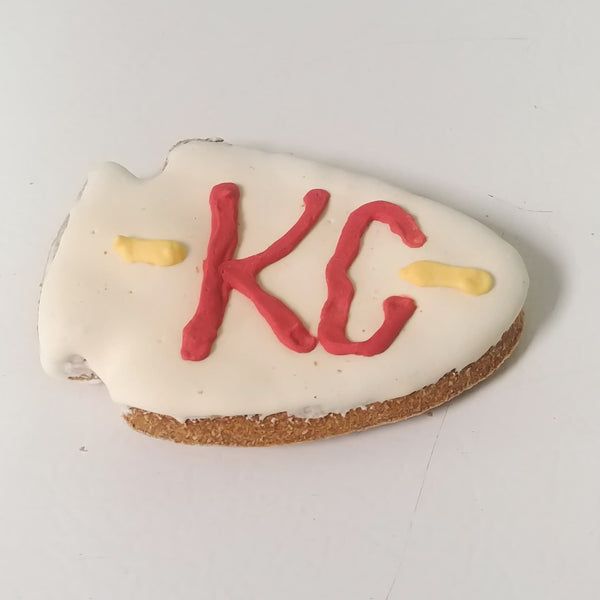 Kansas City Football Iced Cookies for Dogs Set of 6