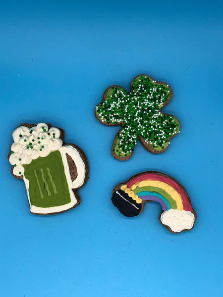 St. Patrick's Day Treats - 6-Pack of Iced Cookies for Dogs