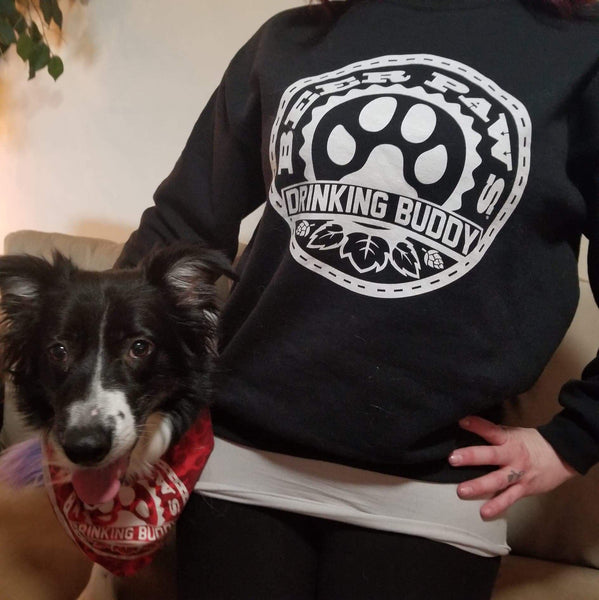 Beer Paws Drinking Buddy Crewneck Sweatshirt