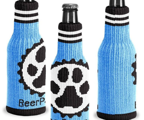 Beer Paws Blue Knit Beer Sweater Kansas City