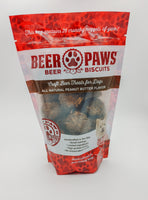 Original Beer Paws Peanut Butter Flavor Beer Biscuits Craft Beer Treats for Dogs