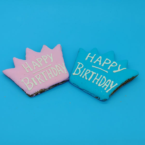 Happy Birthday Iced Cookies for Dogs