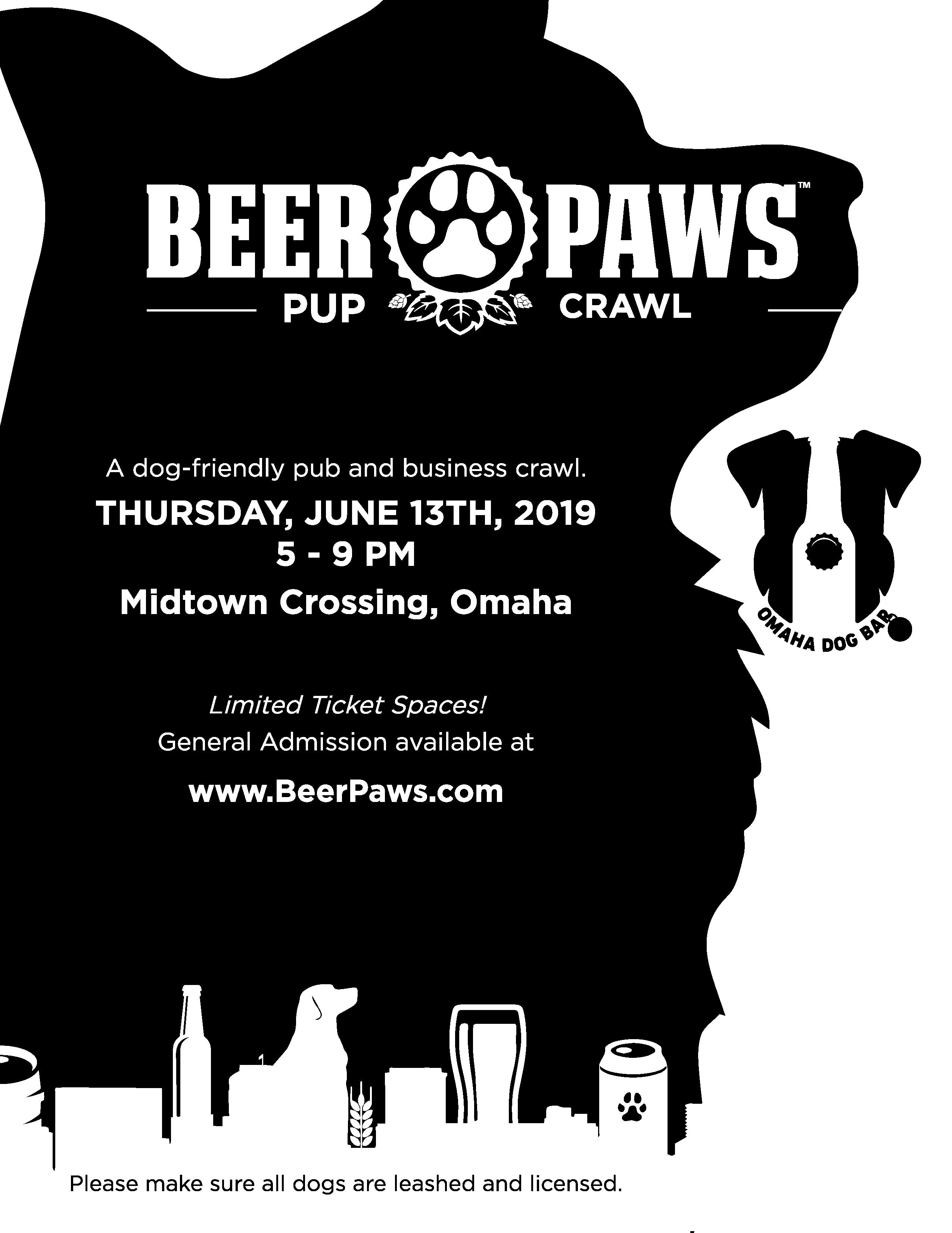 Midtown Crossing Events Omaha Events Things To Do In >> Omaha Beer Paws Pup Crawl At Midtown Crossing Thursday June 13 201