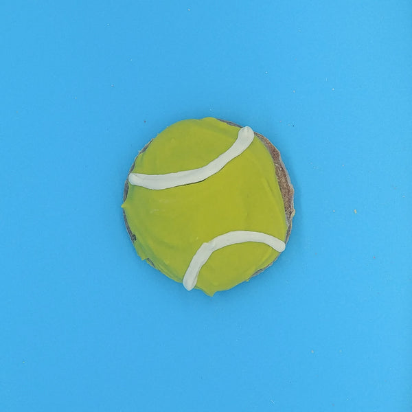Tennis Ball Iced Cookie for Dogs
