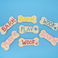 Iced Dog Bone Cookie
