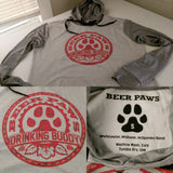 Beer Paws Athletic Style Drinking Buddy Hoodies for Humans