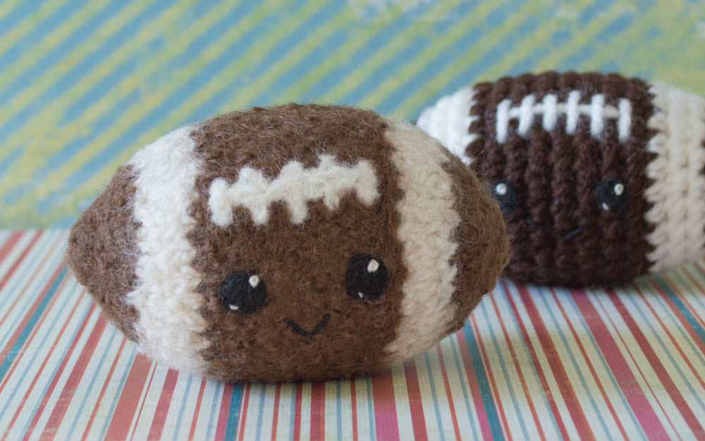 Felted Knit Amigurumi Football Pattern