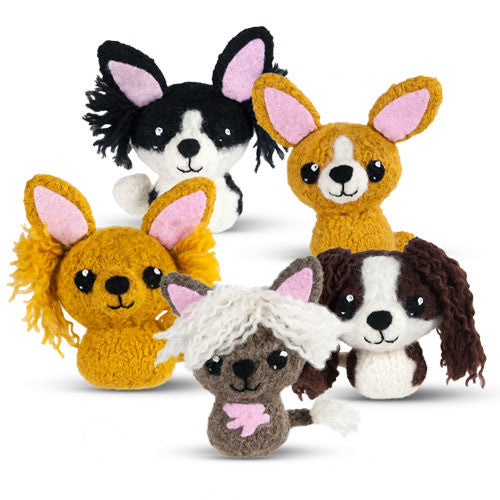 In the Doghouse 2: Chihuahua, Papillon, Pomeranian, Chinese Crested, King Charles Spaniel Felted Knit Amigurumi Pattern, 4 inch - CraftyAlien.com
